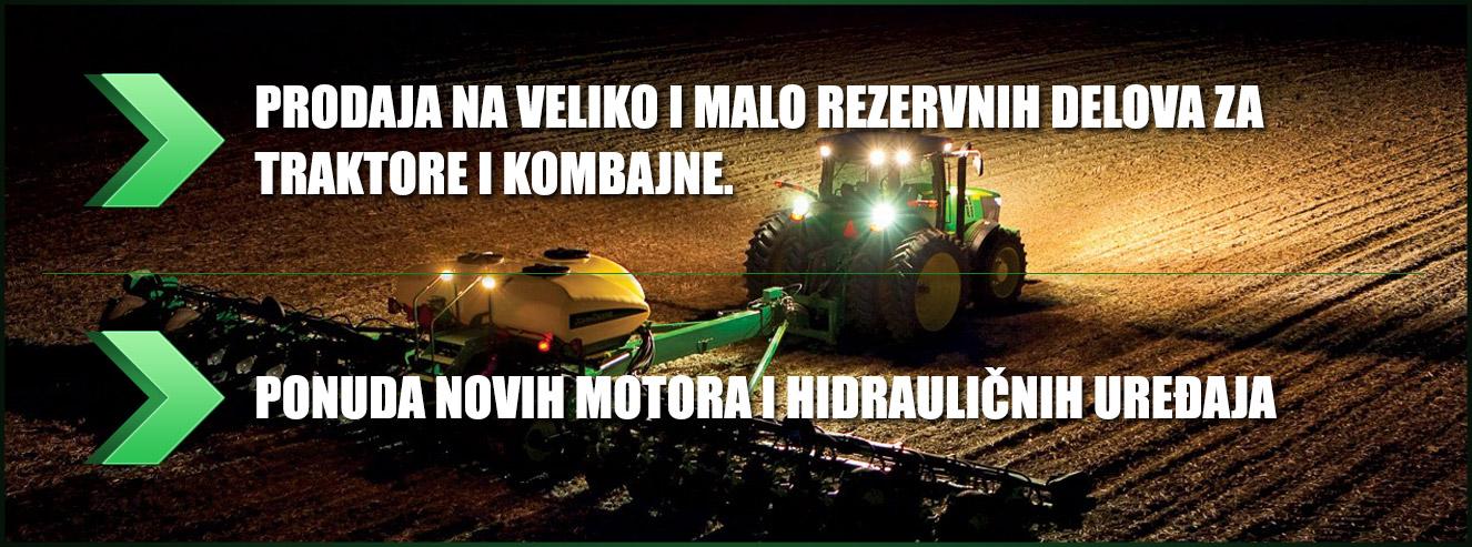 Prodaja rezervnih delova za traktore i kombajne