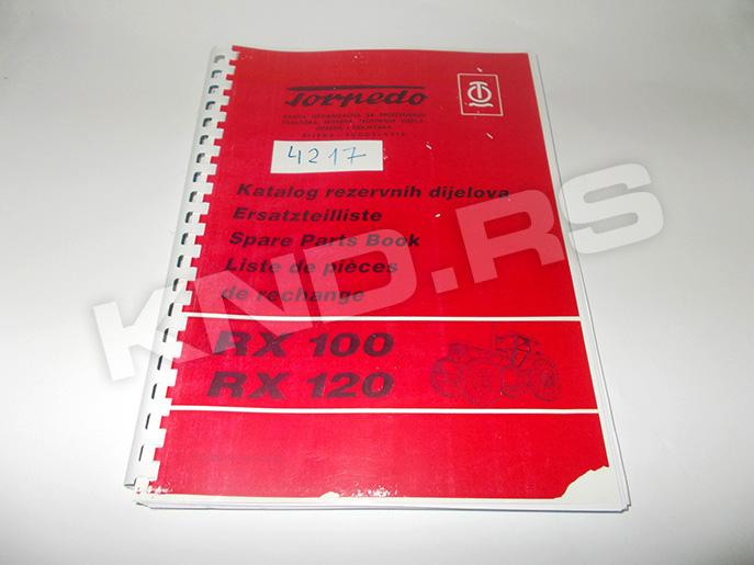 Katalog rezervnih delova Torpedo RX 100/120