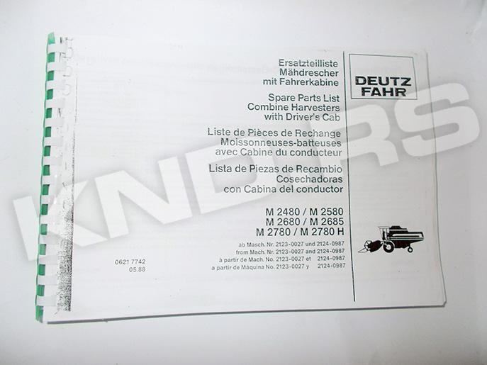 KATALOG DF-M 2480/ M2580 M2680/ M2685 M2780/M2780 H