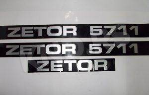 NALEPNICA ZETOR 5711 CRNA SRB