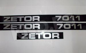 NALEPNICA ZETOR 7011 CRNA SRB