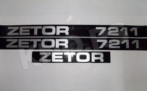 NALEPNICA ZETOR 7211 CRNA SRB